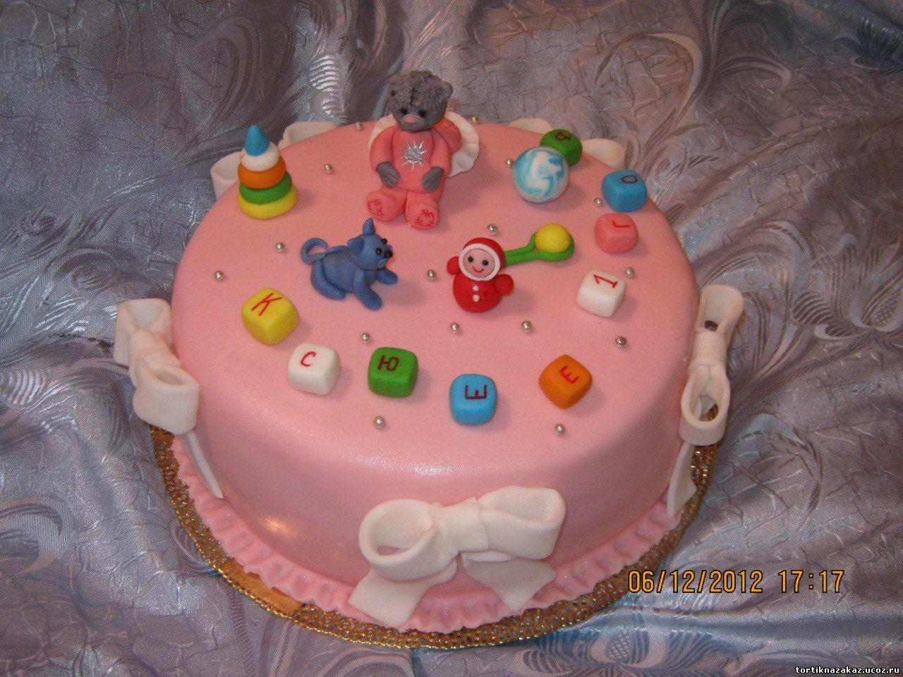 Украшения для детского торта из мастики